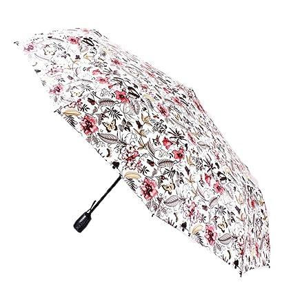 AFCITY Mujer Hombre Paraguas Viaje Sombrilla Plegable para Exteriores Protección UV portátil portátil Paraguas a Prueba