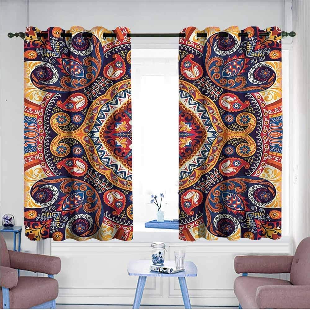 VIVIDX - Cortinas para Puerta corredera, diseño de Cachemira, diseño Oriental Antiguo, decoración del Espacio: Amazon.es: Hogar