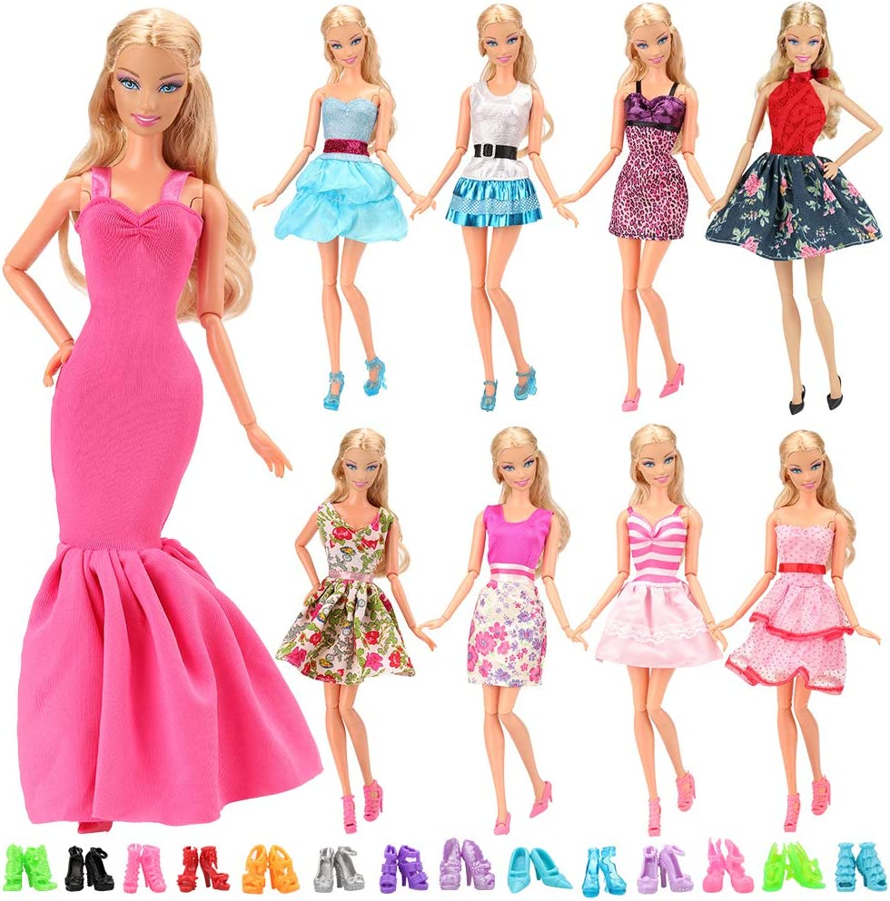 3pcs//set  Handmade Party Office Clothes Dress For Doll Gift Toys Ce0