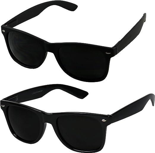 ShadyVEU Super Dark Migraine Tinted 80/'s Spring Hinge Retro Casual Sunglasses