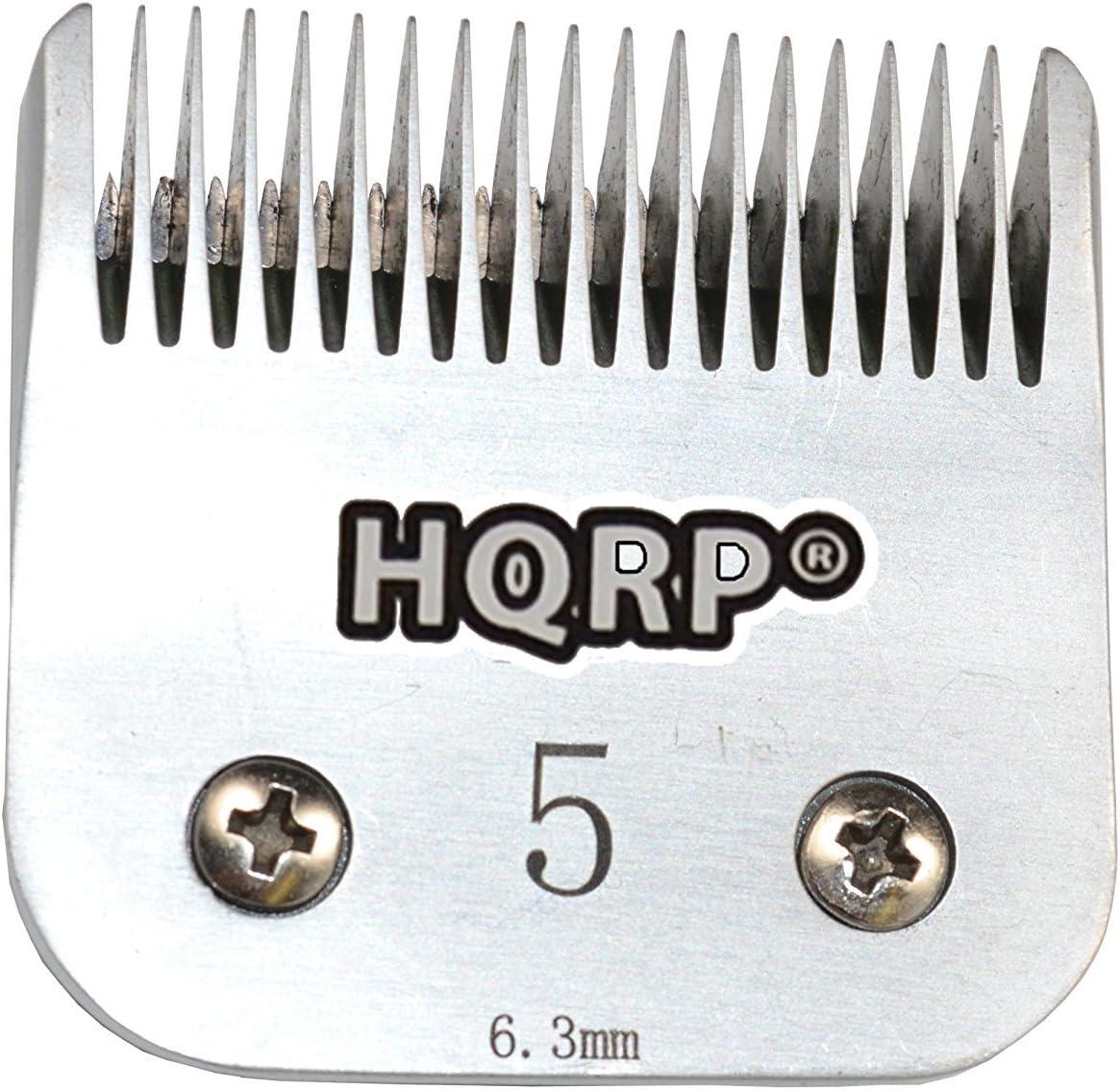 HQRP Cuchilla de cortapelos de animales [tamaño 5FC] para Oster A5/A-5 Turbo 2 velocità 078005-314-002/Golden A5/Turbo A5 Posavasos