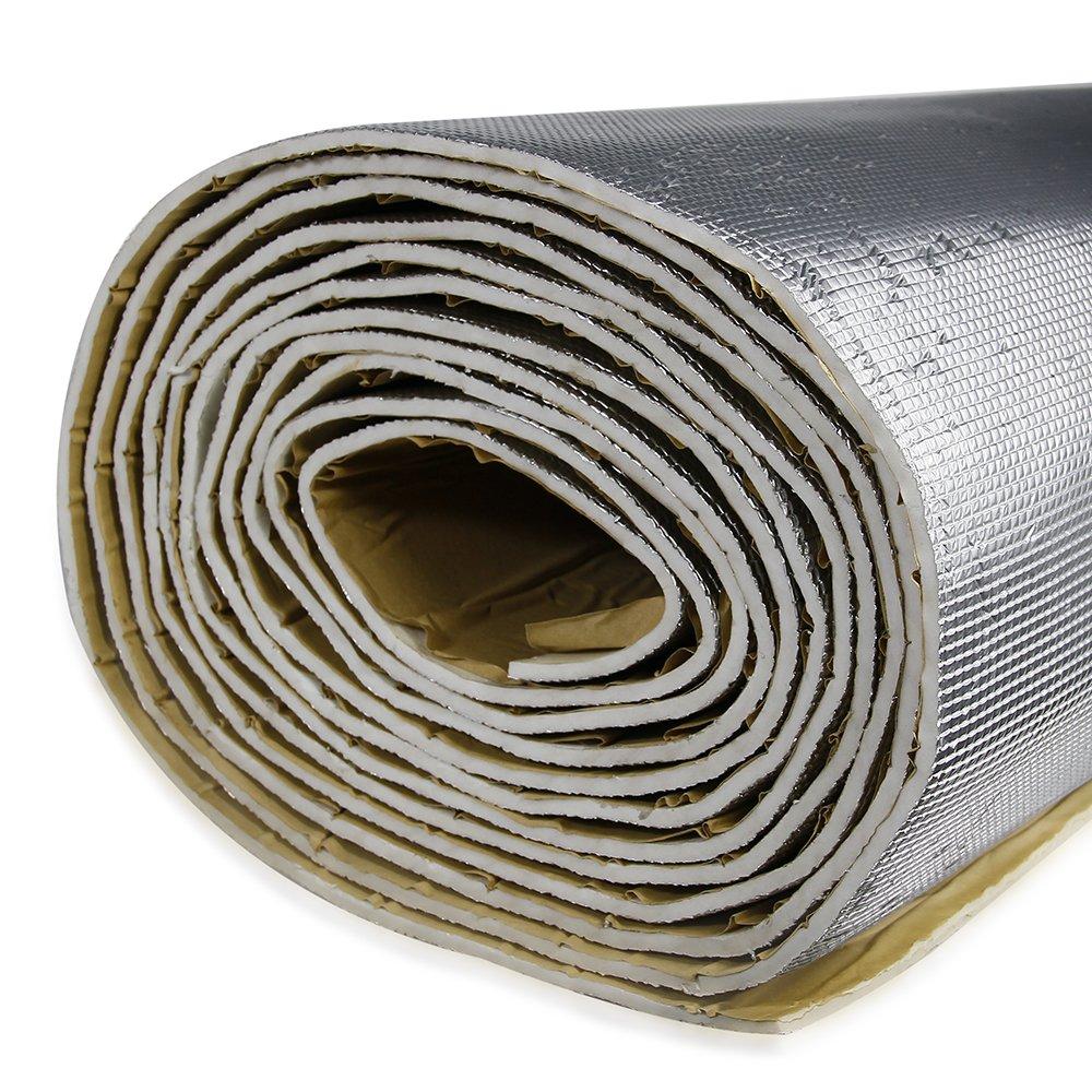 shinehome 236mil Car Heat Shield Sound Deadener Heat Insulation Mat Noise Proof Insulation Mat Heat Protector Mat 40' x 30' 8.18sqft 40 x 30-001