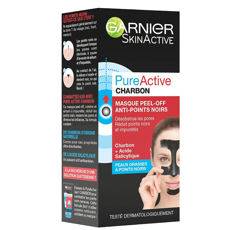 meilleur grossiste baskets pour pas cher fréquent Garnier - SkinActive - Pure Active - Masque Peel-Off Anti-Points Noirs -  Peaux Grasses à Imperfections - Lot de 2 x 50 ml