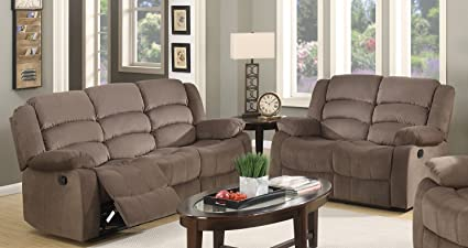 Amazon Com Blackjack Furniture 9824 Brown 2pc Complete Microfiber