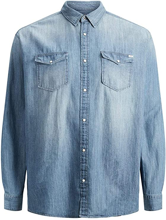 Jack & Jones Jjesheridan Shirt L/S Plus Noos Camisa para Hombre