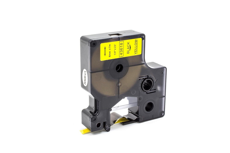 Cassette Cartouche Ruban 6mm vhbw pour Dymo LabelManager 100 Plus, 200, 300, 350, 350D, 360D comme Dymo D1, 43610. VHBW4251004673479