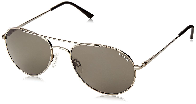 78121680c994 Amazon.com: Randolph Crew Chief CC4R434 Polarized Oval Sunglasses, Gun  Metal, 54 mm: Clothing