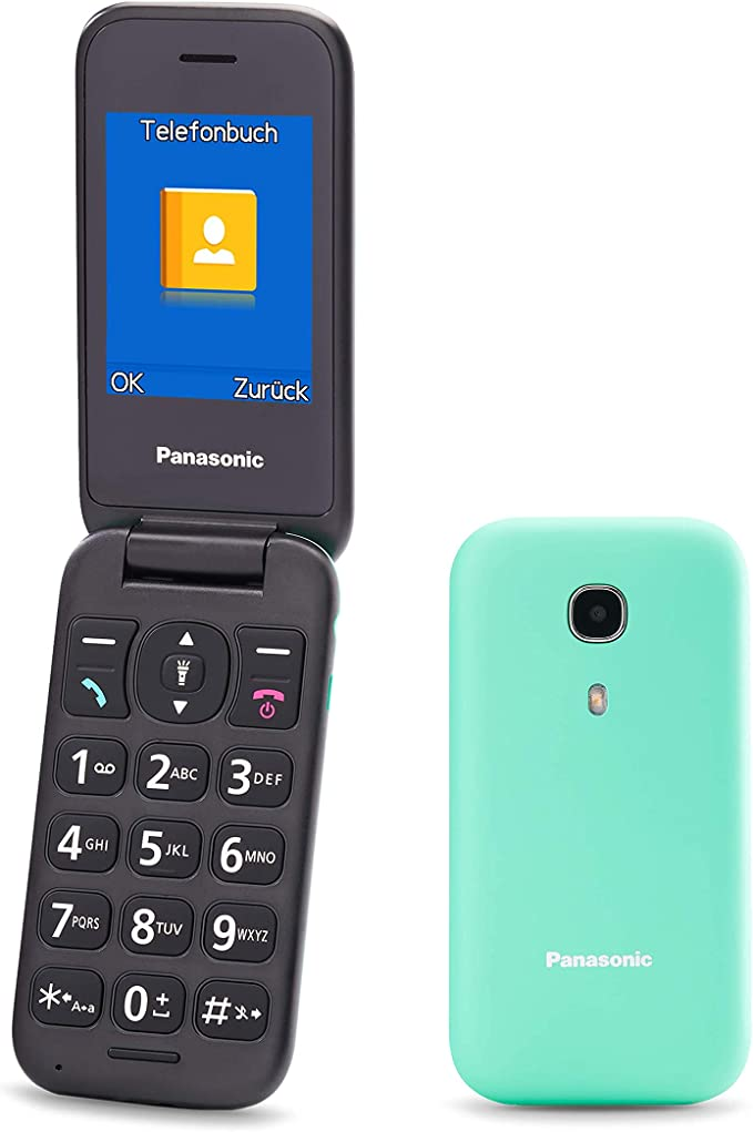 Panasonic KX-TU400EXC - Teléfono Móvil Para Personas Mayores (Botón SOS, Pantalla color TFT 2.4