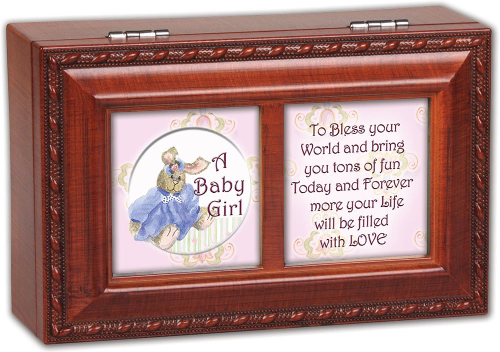 新作商品 Cottage Box Garden Baby Garden Girl Woodgrain Petite Music Box B00BRXCGM4/ Jewelry Box Plays Brahms Lullaby by Cottage Garden B00BRXCGM4, キタゴウソン:d1edef16 --- arcego.dominiotemporario.com