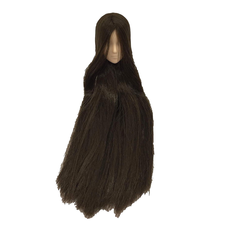 1//6 scale Obitsu 27cm rooted female head 27HD-F02NC02 Natural skin Dark brown hair