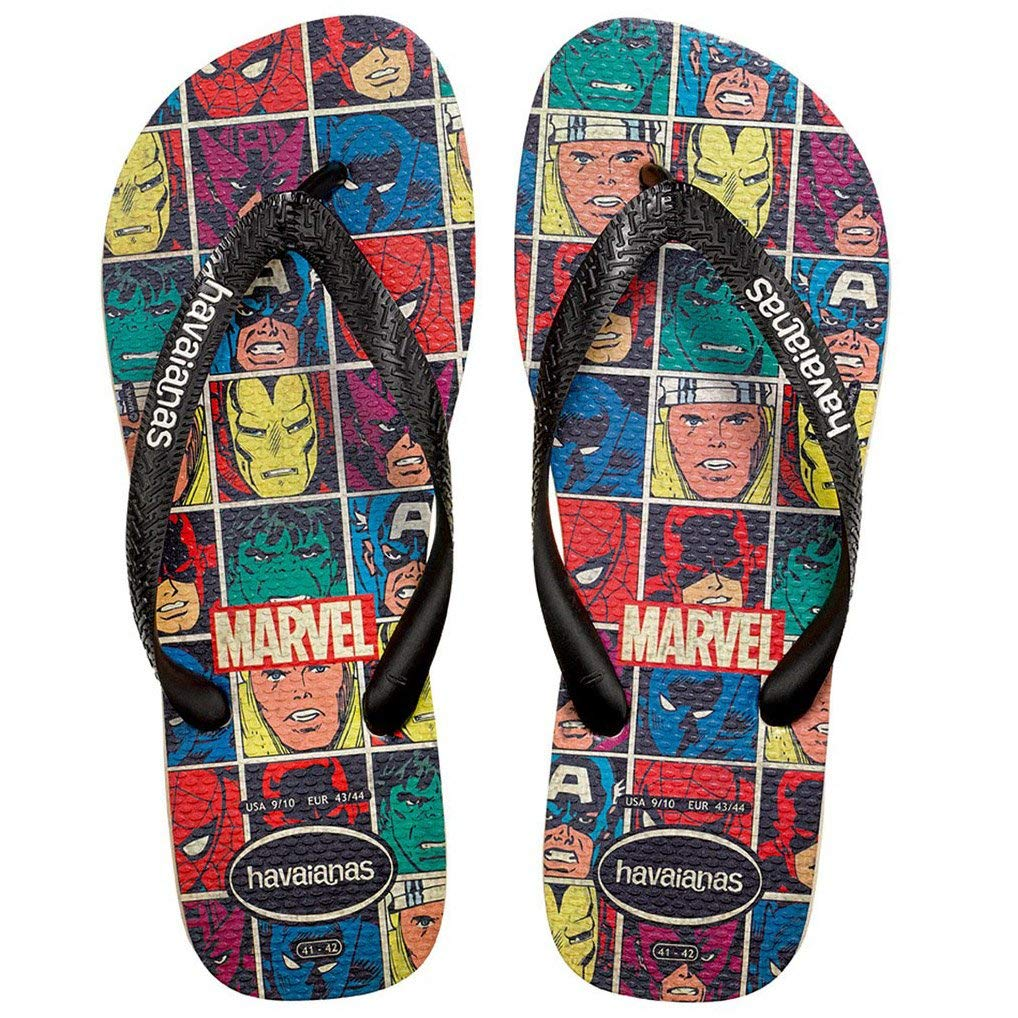 TALLA 39/40 EU. Havaianas Top Marvel, Chanclas Estampadas para Unisex Adulto