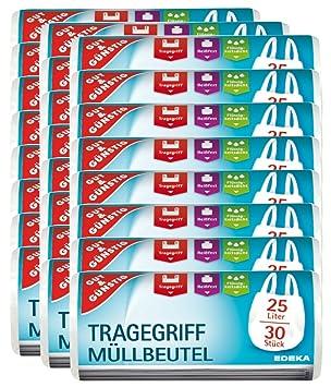 Gut U0026 Günstig Müllbeutel/Mülltüten Mit Tragegriff, 25 Liter, 30 Stück Pro  Rolle