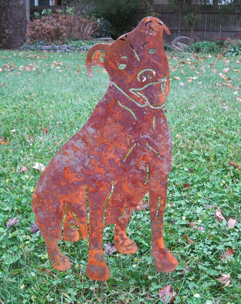 Pit Bull Garden Stake or Wall Hanging
