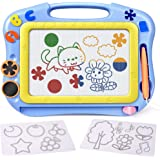 FLY2SKY Magnetic Drawing Board Kids Magna Doodle Board Travel Size Toddler Toys Sketch Writing Colorful Erasable…