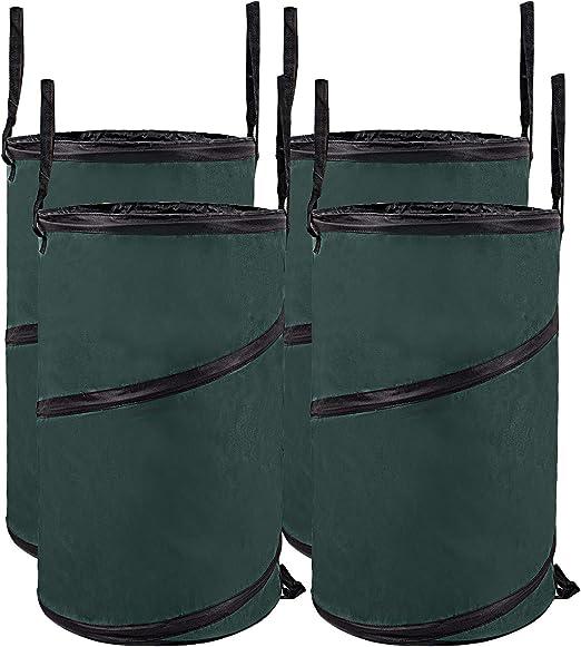WOLTU 4 Sacos de jardín 85litros Poliéster Bolsa de Jardín, Sacos para Desechos de Jardineria Oxford 600D Bolsas de Residuos de Jardín Juegos de 4, Verde: Amazon.es: Hogar