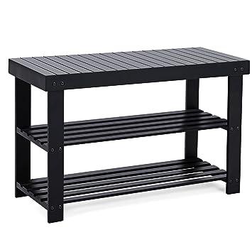 20005728e2ea SONGMICS Black Shoe Rack Bench