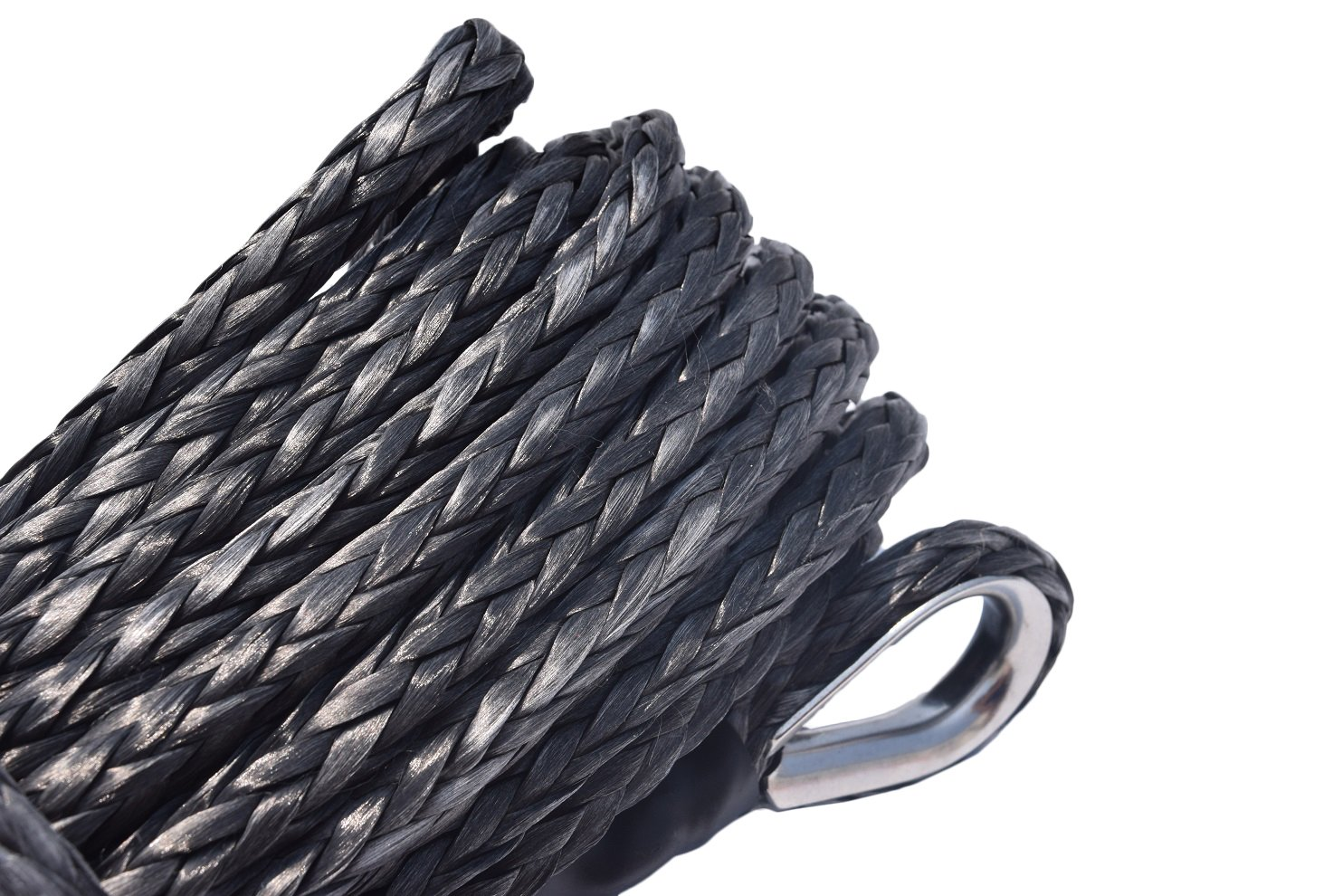 Red Color 3//894ft Synthetic Winch Rope Cable for Off-road ATV UTV Trailers parts With Sheath and Thimble