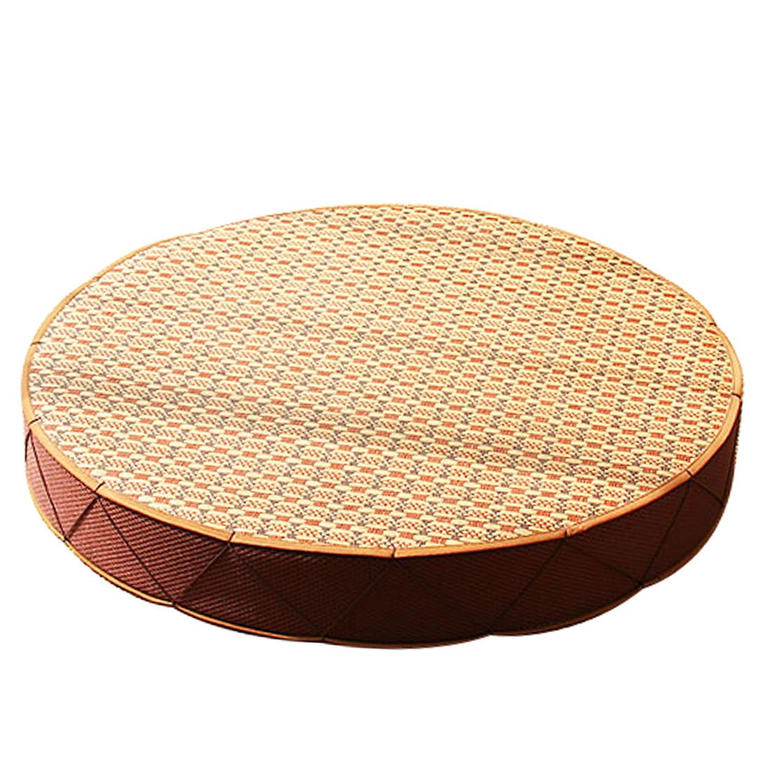 Round Wood Tree Soft Plush Chair Seat Cushion Stump Shaped Pillow 11.8x1.6inch