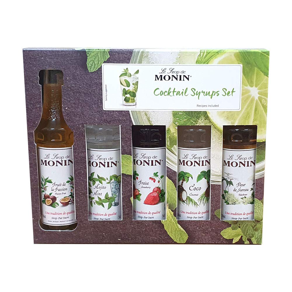 Monin Syrup Cocktail Gift Sets 2 x {5 x 5cl} 10 Bottles in Total