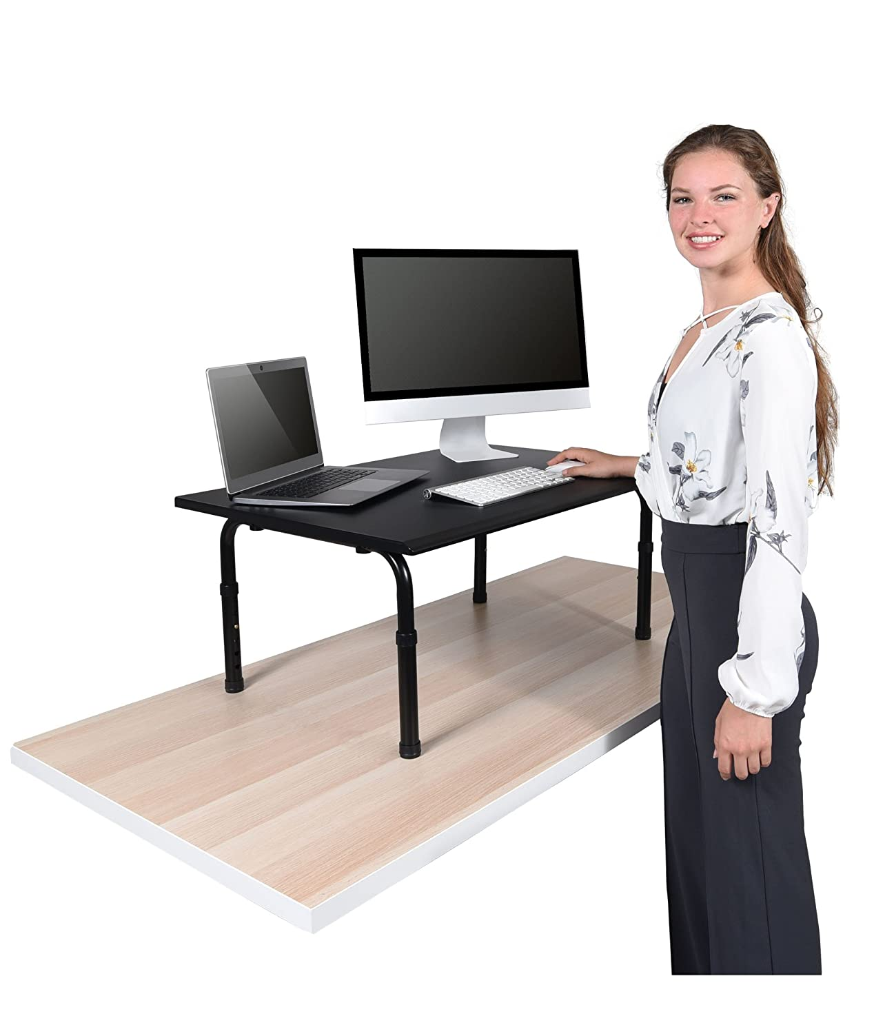 Sensational 32 Wide Adjustable Height Standing Desk Convert Your Desk To A Standing Desk Download Free Architecture Designs Crovemadebymaigaardcom