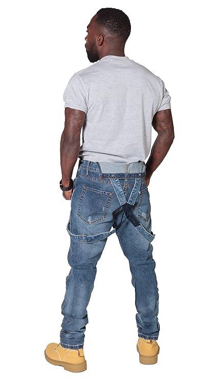 9cf697b1ed Ryujee Peto Vaquero Hombre - Slim Fit - Azul Claro Overol de Mezclilla Bib  Down JAYBLEEDBLUE-34W  Amazon.es  Ropa y accesorios