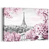 Paris Decor for Bedroom Wall Decor Girls Room Decorations for Bedroom Decor Pink Eiffel Tower Pictures for Bathroom Wall Deco