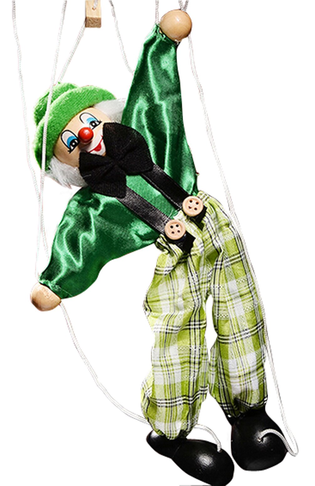 Children's manual Educational Toys Cute Clown Puppet Doll Toy(green)