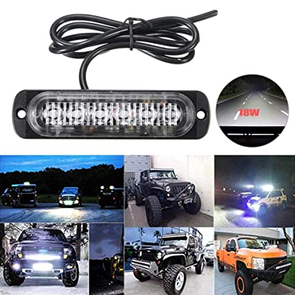 Universal Led Fog  Lights Set Of 2 Car Van Pick Up 4x4 Offroad 12v