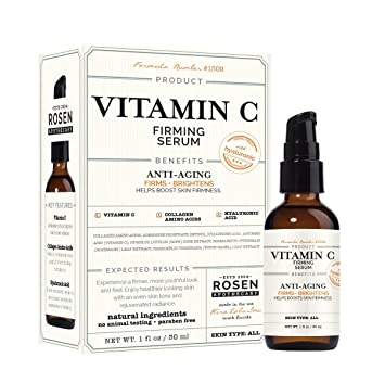 Rosen Apothecary Vitamin C: Firming Serum with Hyaluronic 1oz / 30ml