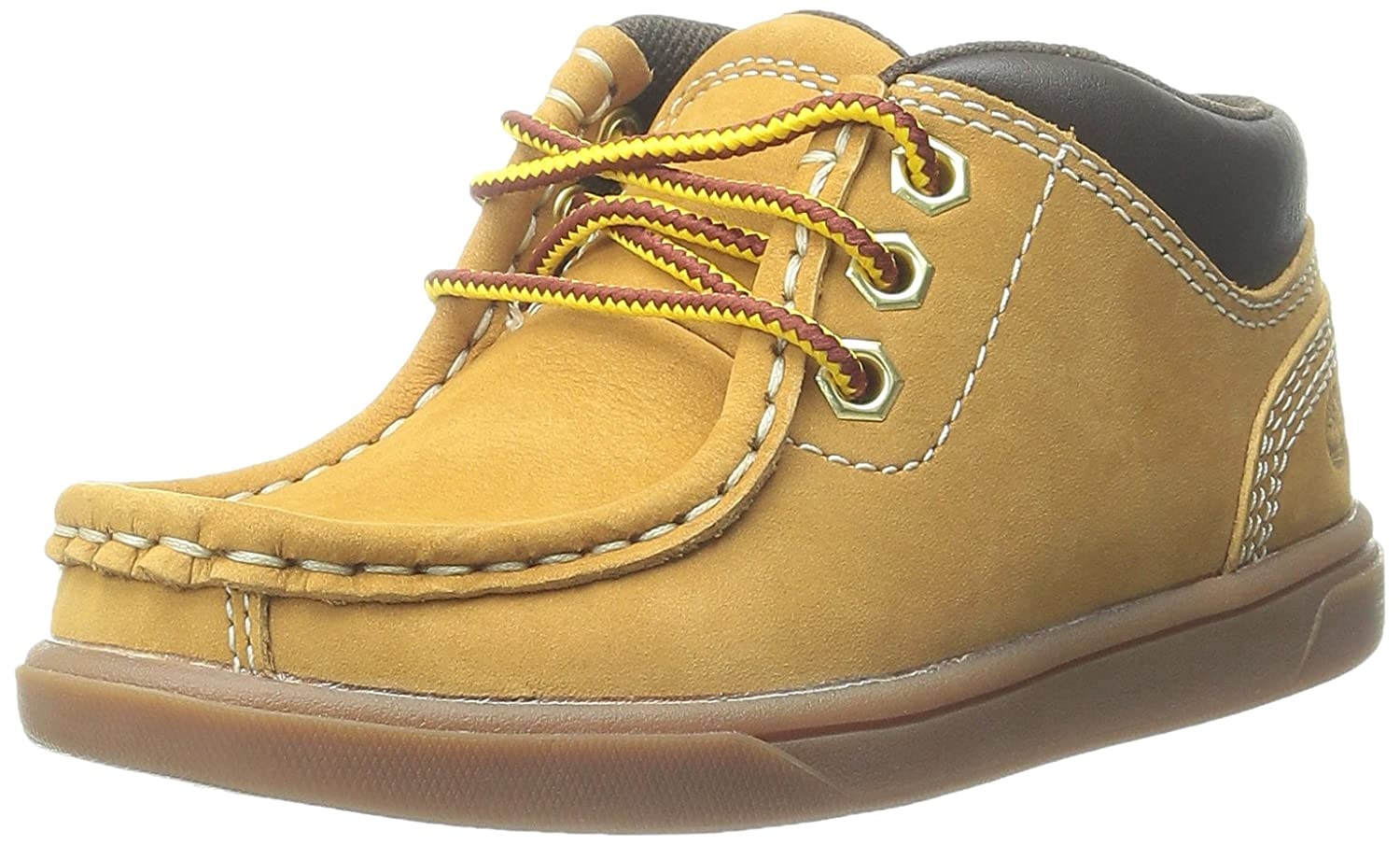Timberland Groveton Leather Moc Chukka Boot (ToddlerLittle KidBig Kid) Wheat Nubuck