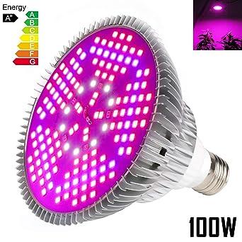 Iluminación para plantas 100W E27 Bombillas de luz 150 Leds Grow Lamp de interior Jardín de