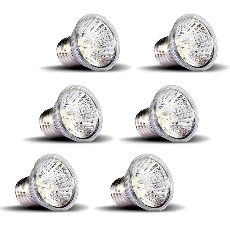 OMAYKEY 75W 6 Pack UVA Sunbathe Heat Lamp/Bulb/Light
