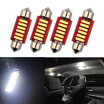 Fezz Bombillas LED Coche Interiors Luz Lám para Festoon 36Mm C5W C10W Canbus 7020 6Smd 5W: Amazon.es: Coche y moto