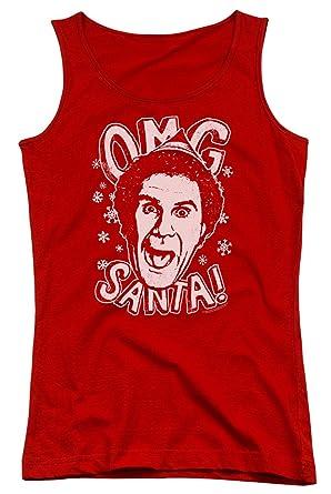 b3bca59c6 Amazon.com: A&E Designs Juniors Elf Tanktop OMG Santa Tank Top: Clothing