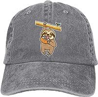 NVJUI JUFOPL Adult Denim Baseball Cap Sloth Loves Sushi