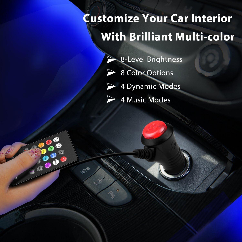 Megulla UnterArmaturenbrett Beleuchtungsset, Smart RGB