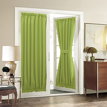 Curtains, Drapes & Valances Home & Garden Thermal Insulated Blackout Side Lights Privacy French Door Curtain Single Panel