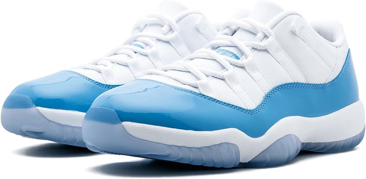 d5b51a250d3 Jordan Men Air Jordan 11 Retro Low (White/University Blue) Size 9.5 US.  Back. Double-tap to zoom