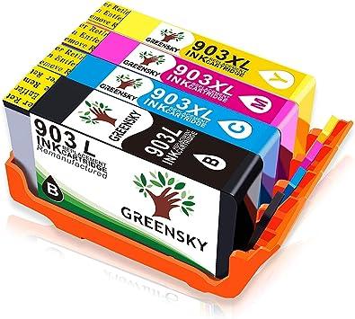 GREENSKY 4 paquetes cartucho de tinta compartible de reemplazo ...