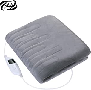MaxKare Large Electric Heated Blanket with Soft Flannel, Heated Throw with Fast-Heating Technology, Adjustable Temperature Level and Timer for Full Body Warming 160 * 130cm