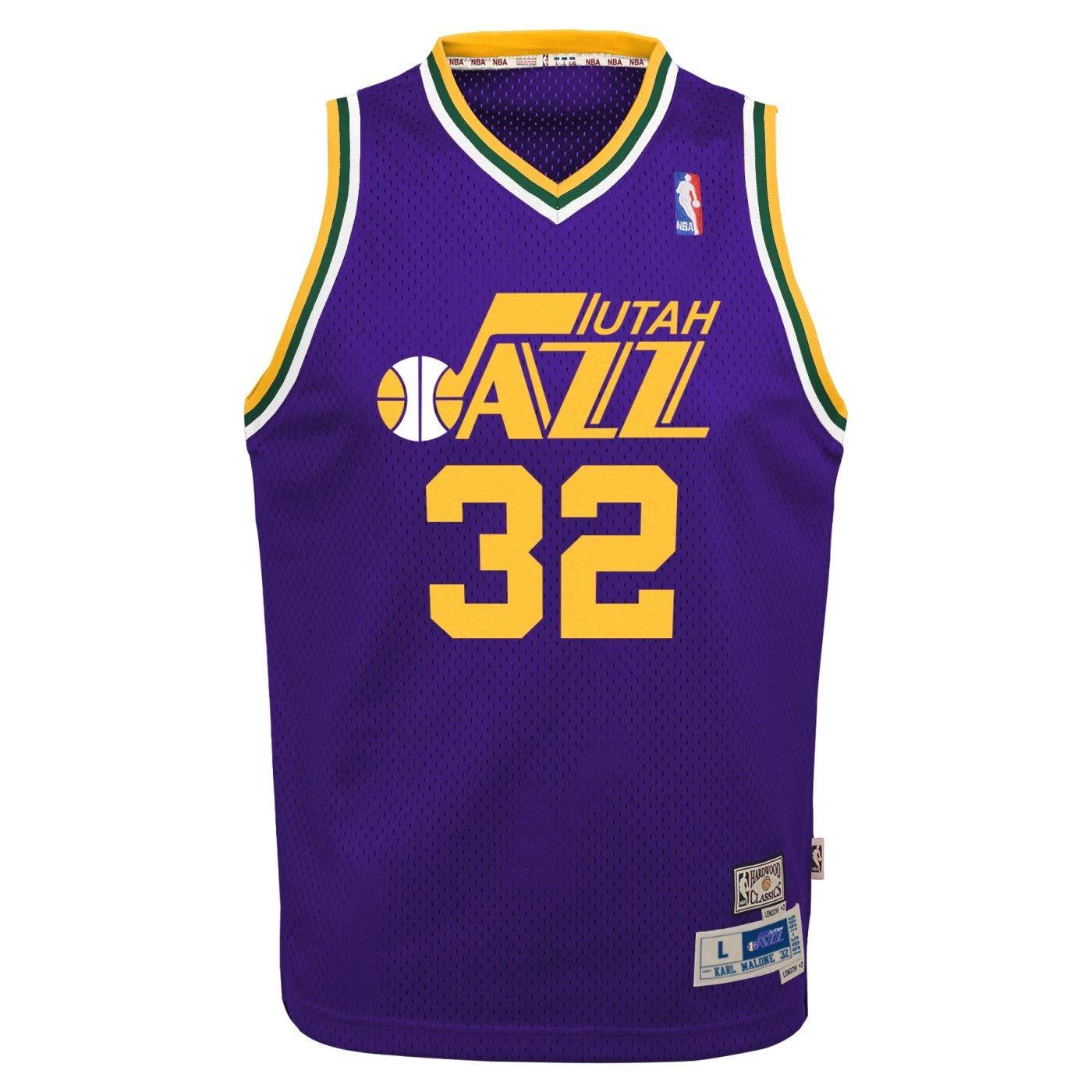 a0436820c Amazon.com : Outerstuff Karl Malone Utah Jazz NBA Youth Throwback Swingman  Jersey : Sports & Outdoors