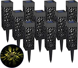 Solar Lights Outdoor 10Pcs Solar Pathway Lights Waterproof LED Garden Lights Outdoor Led for Pathway Walkway Yard Lawn &Patio Decor