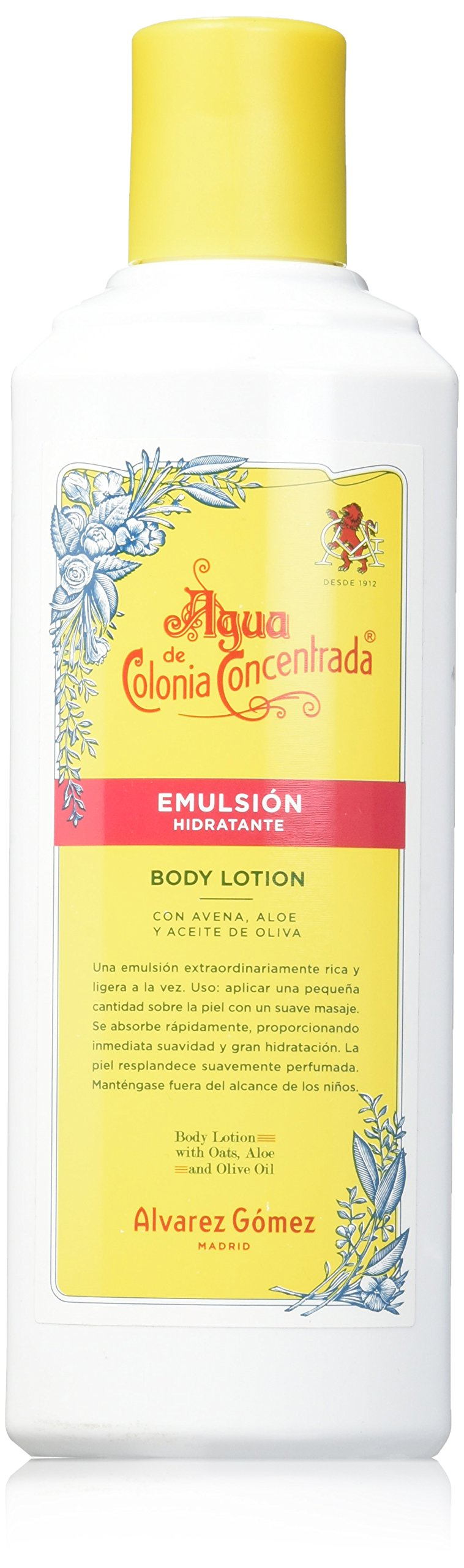 Alvarez Gomez Agua De Colonia Concentrada Body Lotion for Men, 10.5 Ounce