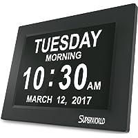 """SUPERWORLD 8"""" De Alarma Reloj - Reloj Calendario"""