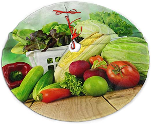 When Does Whole Foods Start Selling Christmas Trees 2020 Amazon.com: Christmas Tree Skirt, Vegetables Tomatoes Cabbage