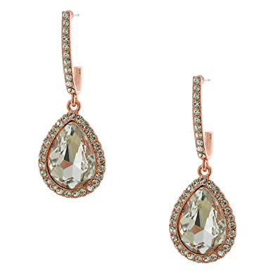 Rose Gold Teardrop Earrings 0paU3EM