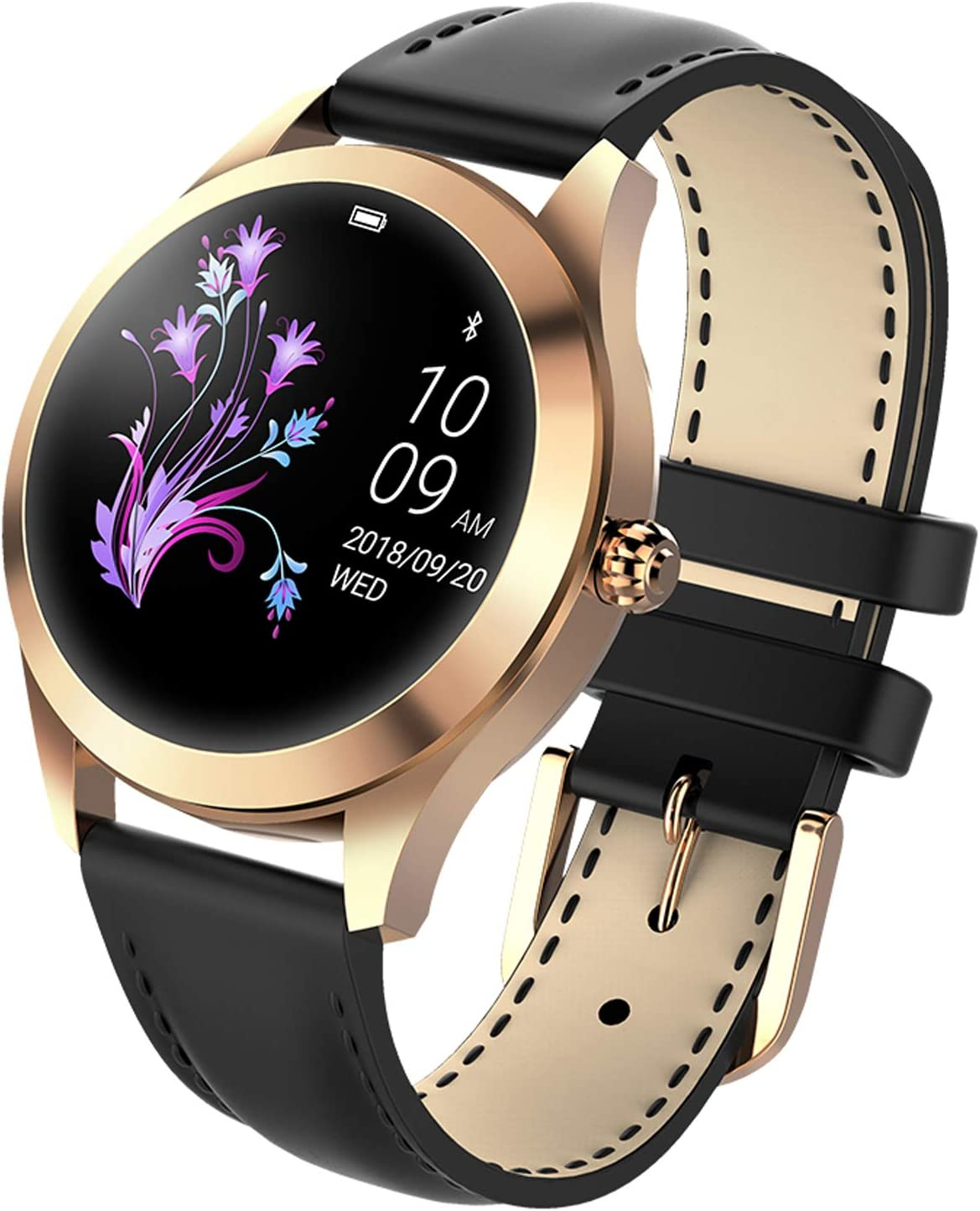 findtime Bluetooth Smartwatch for Women Calorie Counter IP68 Waterproof Sleep Monitoring Pedometer Activity Tracking for Women