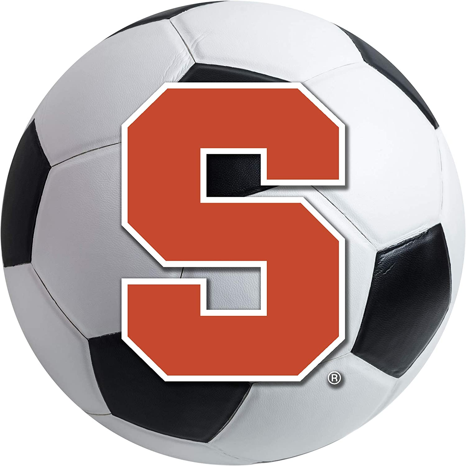 FANMATS NCAA Syracuse University Orange Nylon Face Soccer Ball Rug