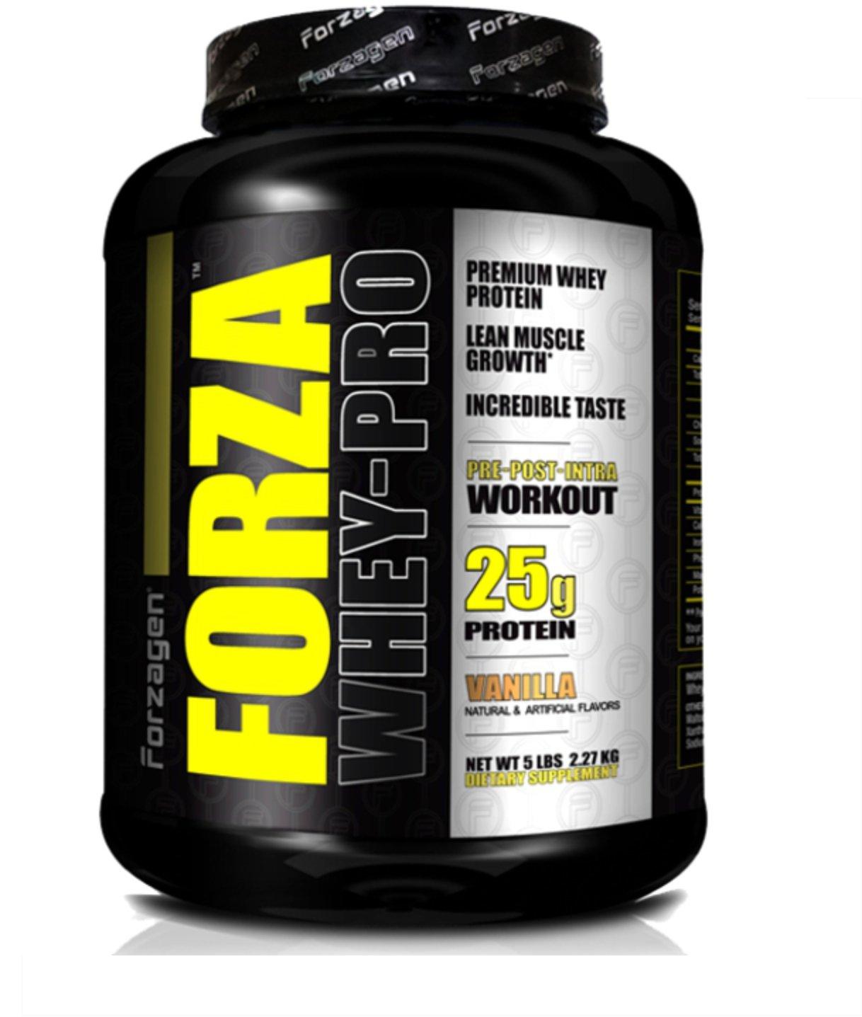 Forzagen Forza Whey-Pro Premium Whey Protein 25 g Protein (5 Lb, Vanilla)
