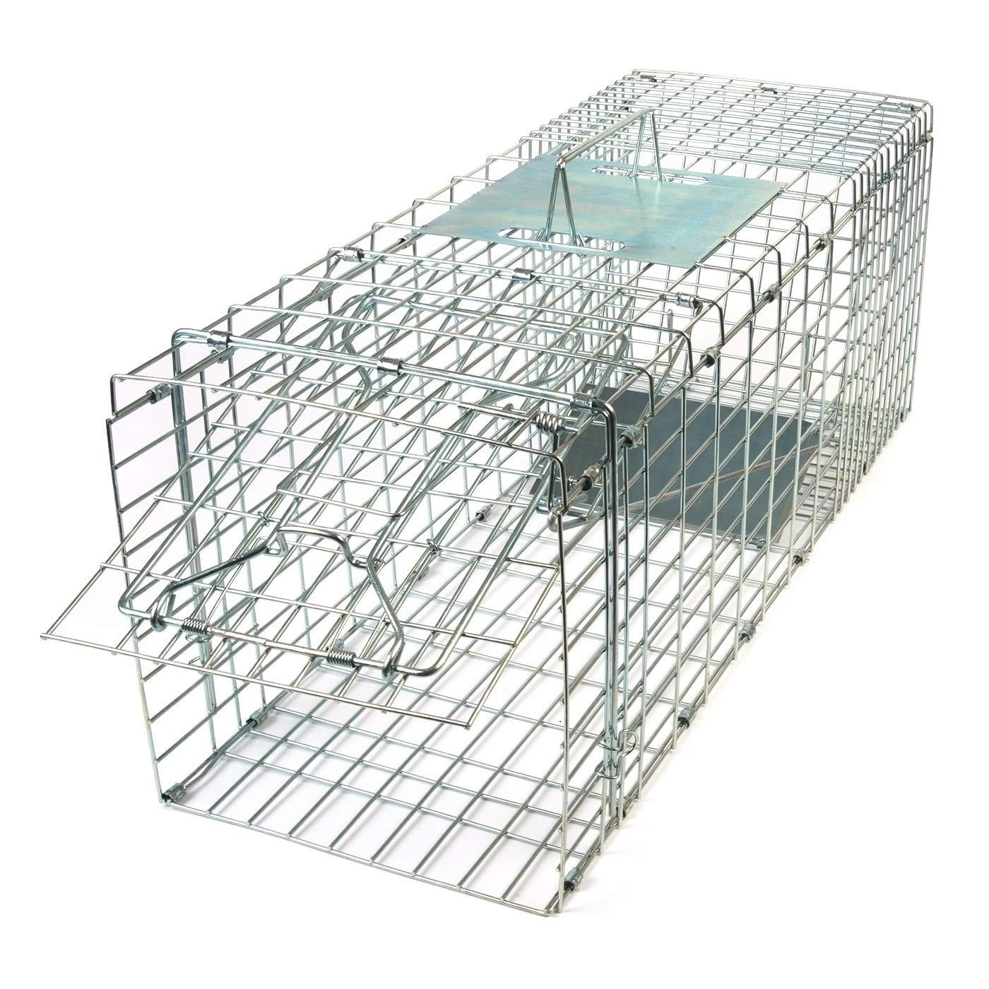Gardigo - Jaula & Trasportín plegable de metal para mascota | Trampa de captura de animales vivos, gatos, perros, conejos, roedores - 66 x 23 x 26 cm 62360
